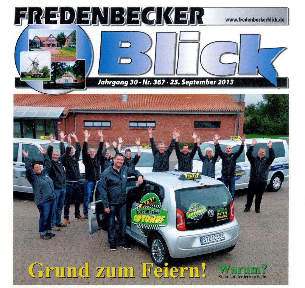 Fredenbecker Blick - Zeitungsartikel vom 25.09.2013 - Grund zum Feiern - Ihr Fredenbecker Autoruf